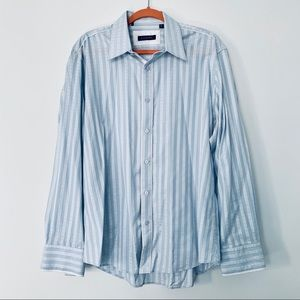 Zagiri Cotton Stripe Long Sleeve Button Down Shirt